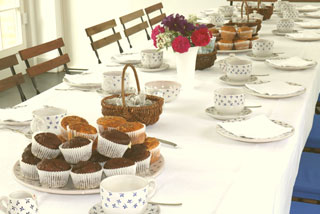 Table set for afternoon tea in the Orangery